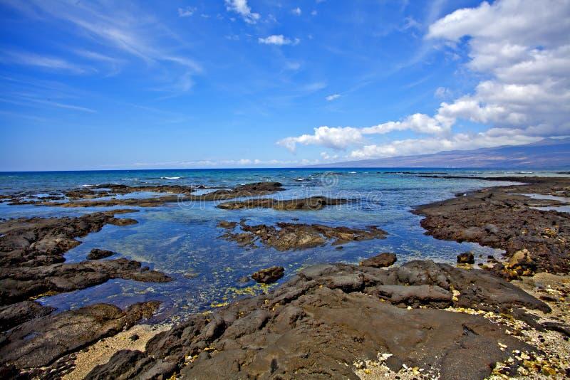 Puako Oceaanscène stock afbeeldingen