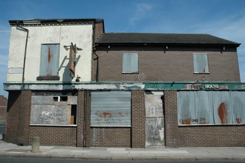 Pub abandonné photos stock