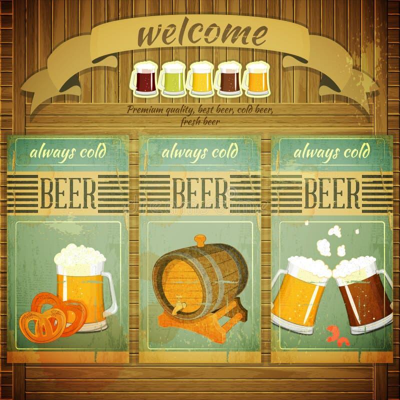 Pub Beer Menu vector illustration
