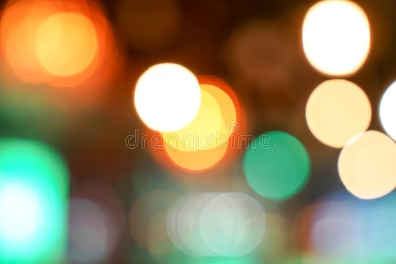Pub / Club / Bar blurry and bokeh background image. The Pub Club Bar blurry with colourful bokeh background image royalty free stock image