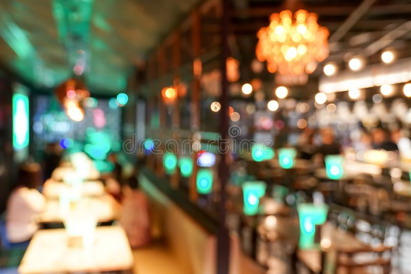 Pub / Club / Bar blurry and bokeh background image. The Pub Club Bar blurry and colourful bokeh background image stock photos