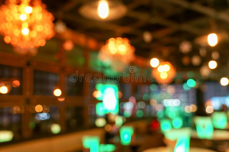 Pub / Club / Bar blurry and bokeh background image. The Pub Club Bar blurry and colourful bokeh background image royalty free stock photo