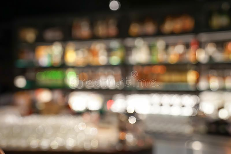 Pub / Club / Bar blurry and bokeh background image. The Pub Club Bar blurry and colourful bokeh background image royalty free stock photos