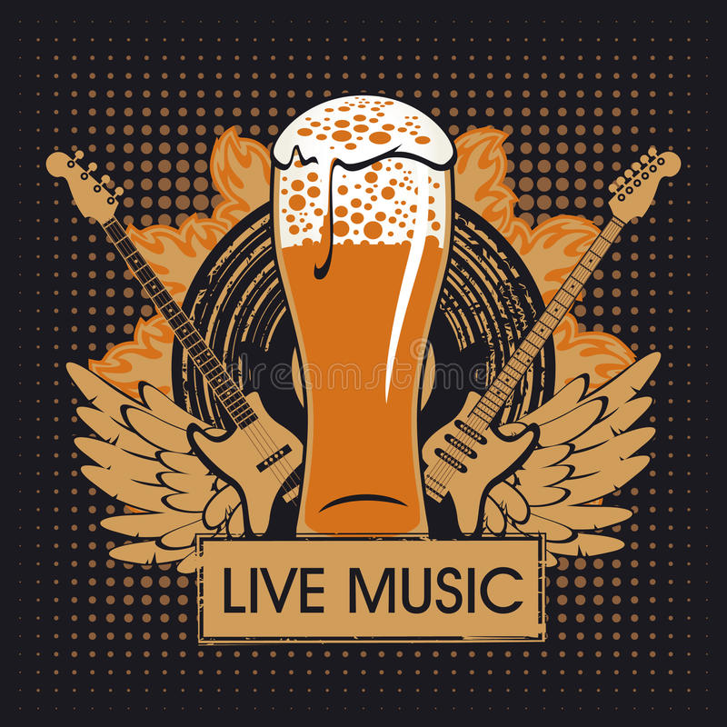 Pub con música en directo libre illustration