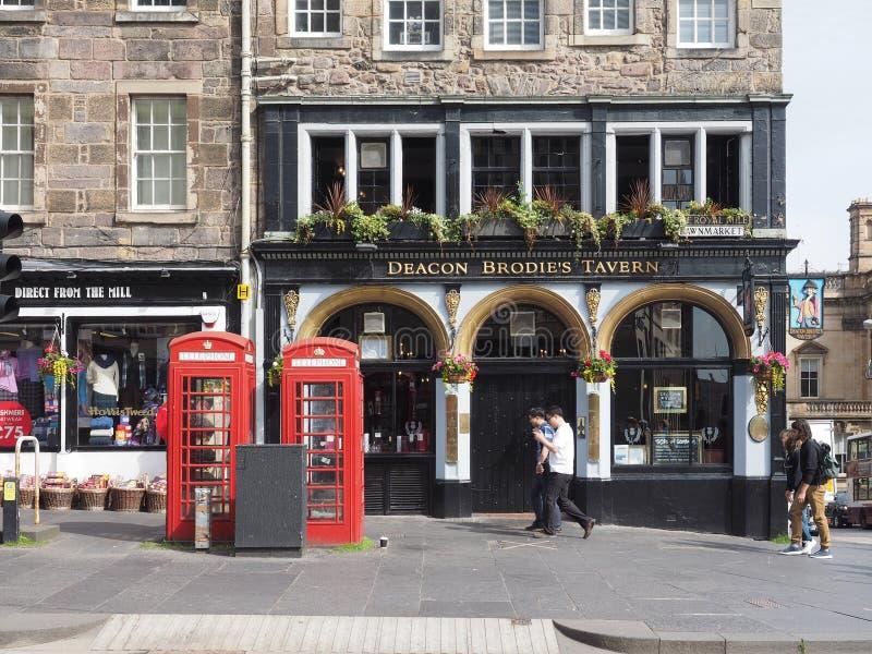 Pub della locanda di Brodie del sottopeso a Edimburgo immagini stock