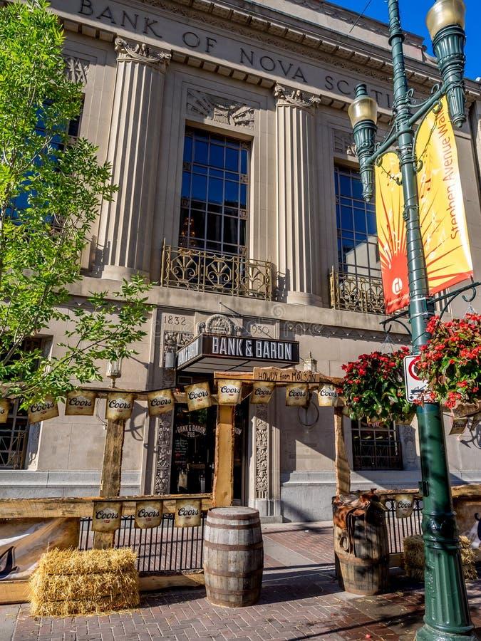 Pub di barone e della Banca alla fuga precipitosa immagine stock