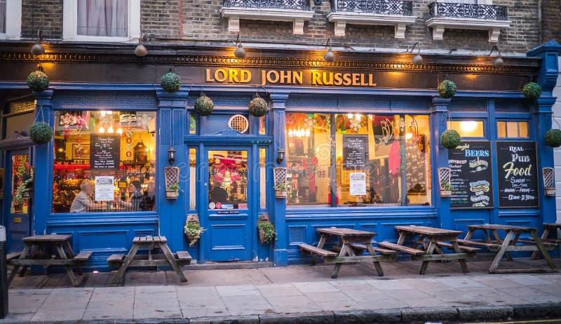 Pub di Lord John Russell, via di Marchmont, Londra, al Natale fotografia stock
