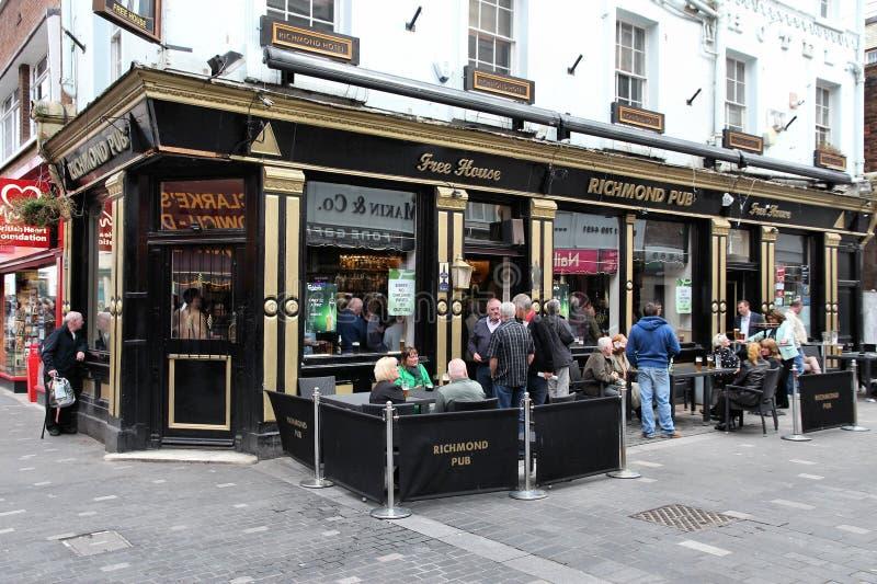 Pub en Liverpool imagen de archivo