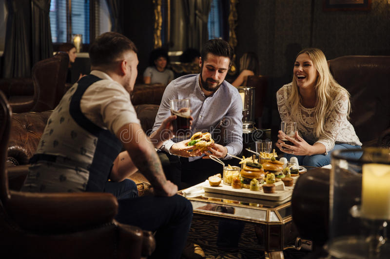 Pub Food And Drinks royalty free stock photos