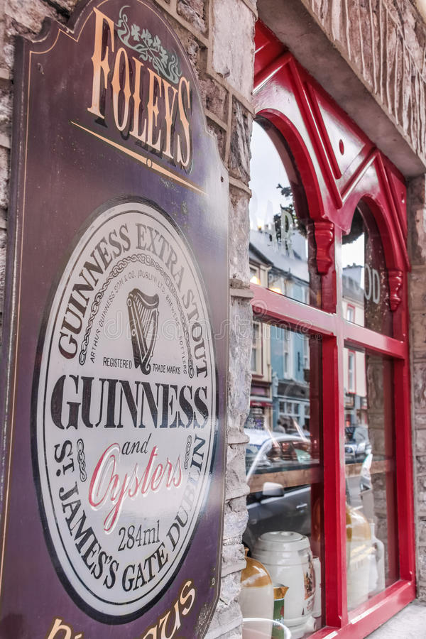 Pub in Kenmare with Guinness sign royalty free stock images