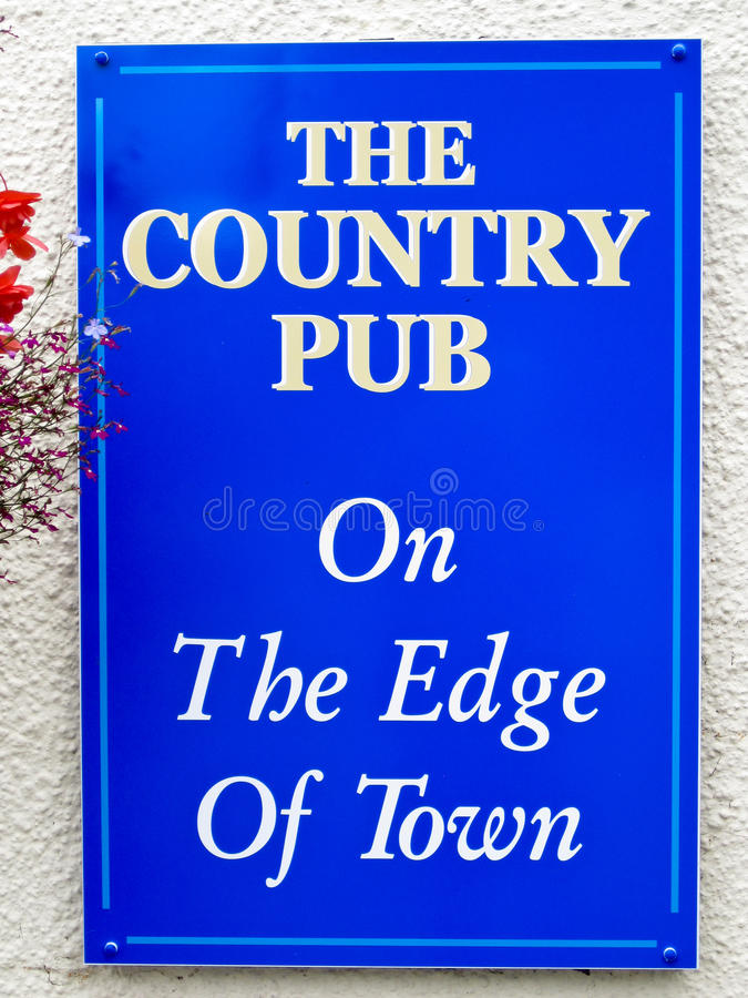 Download Pub Sign stock photo. Image of blue, text, white, edge - 15638066