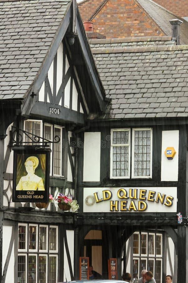 Pub viejo de la pista del Queens. Chester. Inglaterra foto de archivo