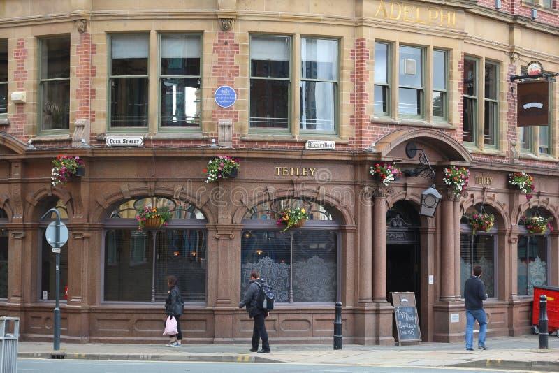 Pub viejo de Leeds foto de archivo libre de regalías
