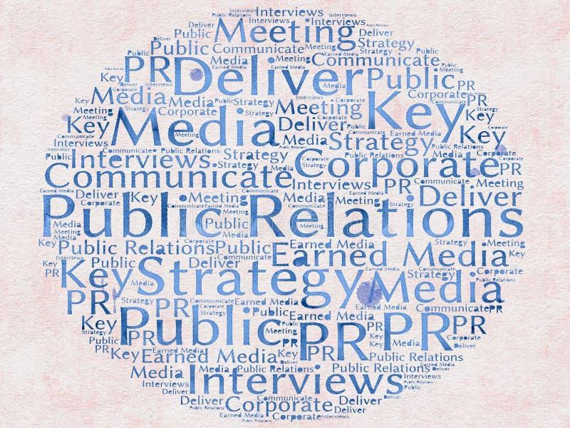 Pubbliche relazioni illustrazione di stock