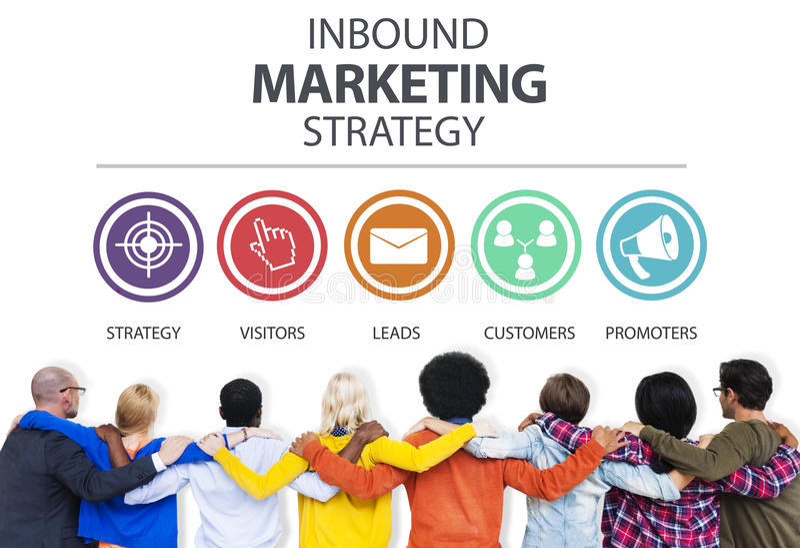 Pubblicità in arrivo Co marcante a caldo commerciale di strategia di marketing immagine stock libera da diritti