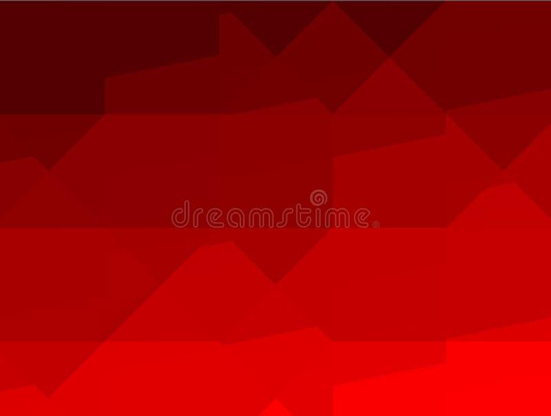 Pubblicità astratta, modello geometrico rosso di progettazione di architettura illustrazione vettoriale