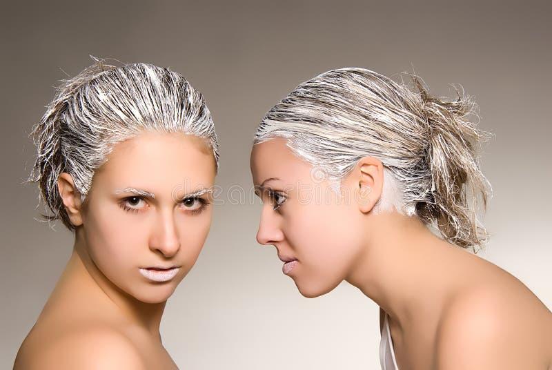 Pubblicità del salone dei capelli fotografie stock libere da diritti
