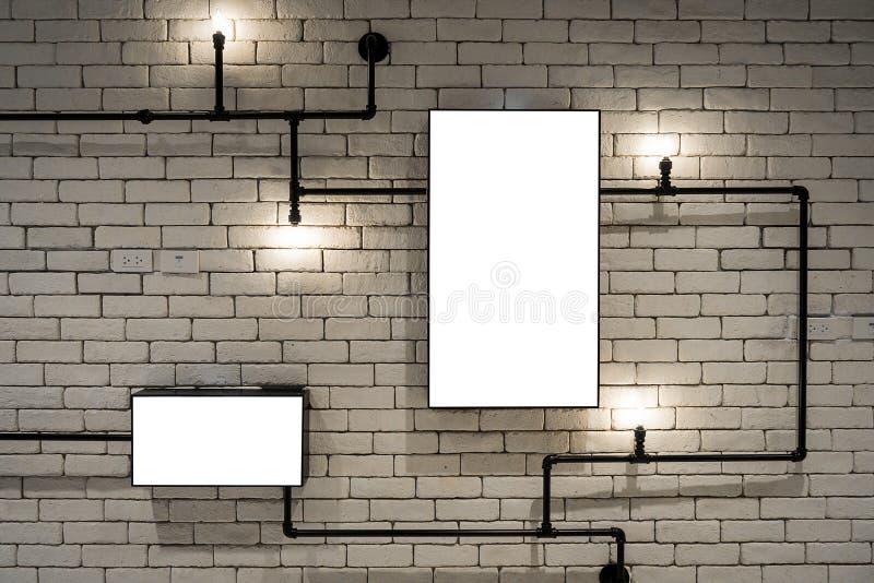 Pubblicità della parete dell'esposizione fotografia stock libera da diritti