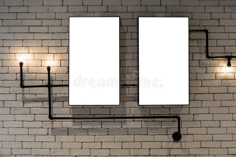 Pubblicità della parete dell'esposizione fotografie stock