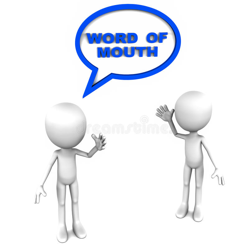 Pubblicità di bocca in bocca illustrazione di stock