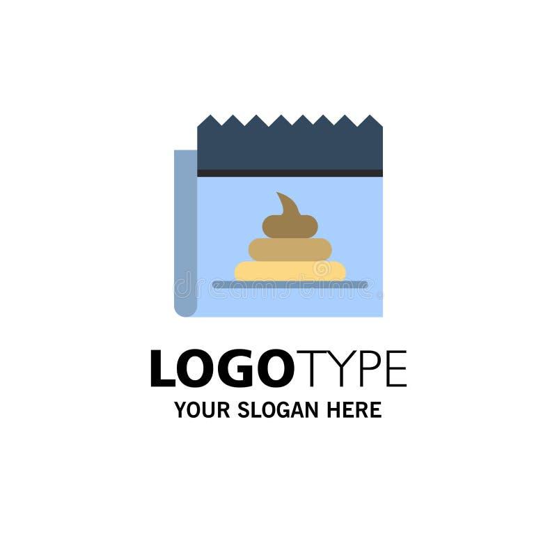 Pubblicità, falsificazione, mistificazione, giornalismo, affare Logo Template di notizie colore piano illustrazione di stock
