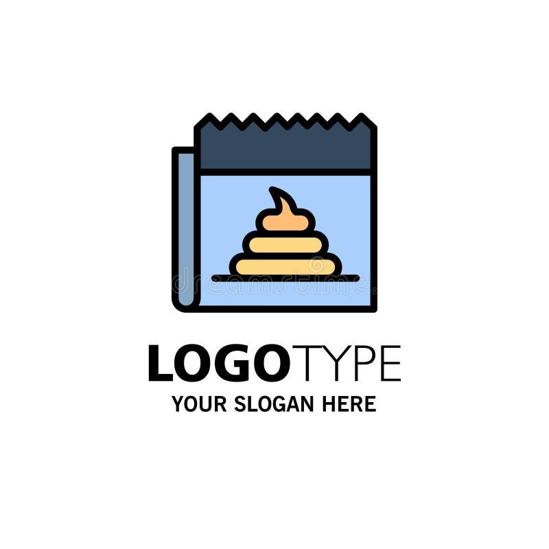 Pubblicità, falsificazione, mistificazione, giornalismo, affare Logo Template di notizie colore piano illustrazione vettoriale