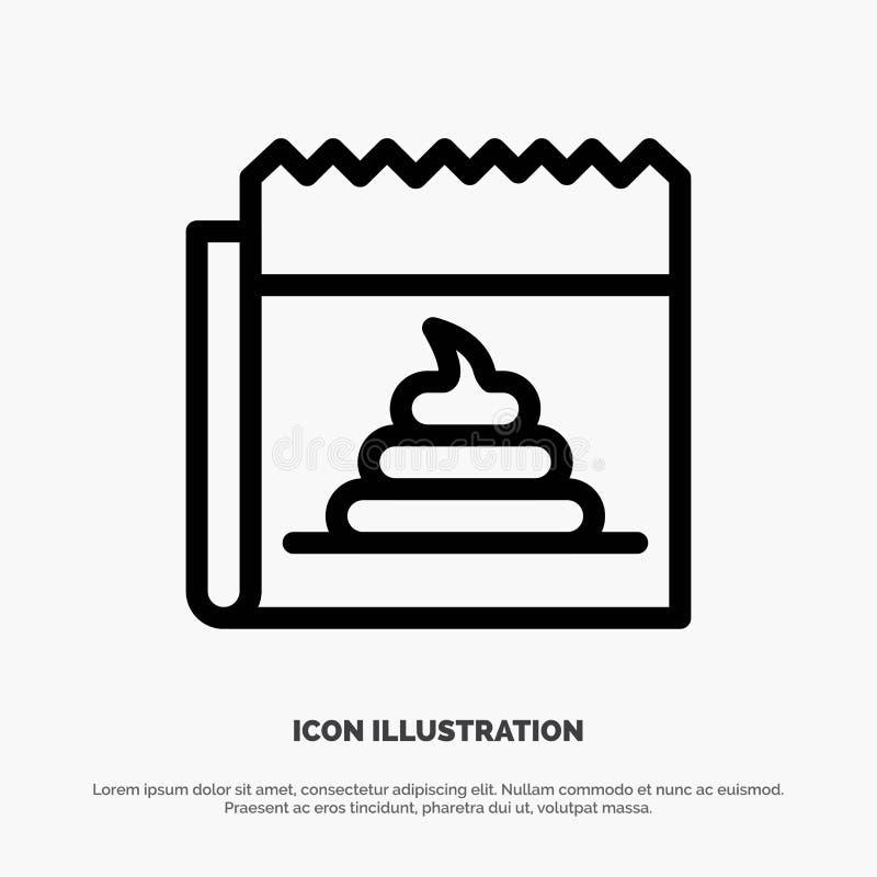 Pubblicità, falsificazione, mistificazione, giornalismo, linea vettore di notizie dell'icona royalty illustrazione gratis