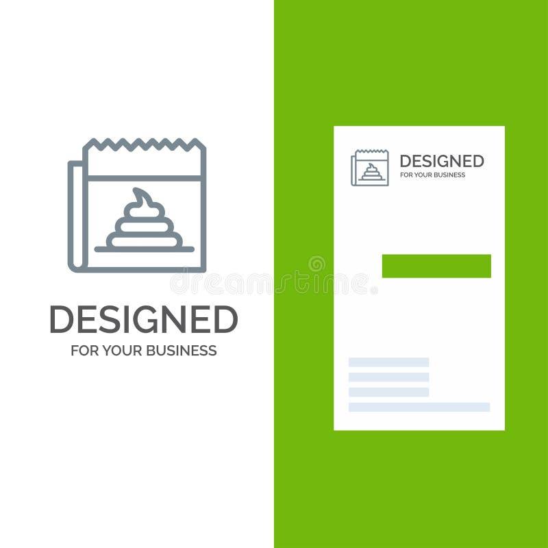 Pubblicità, falsificazione, mistificazione, giornalismo, notizie Grey Logo Design e modello del biglietto da visita illustrazione vettoriale