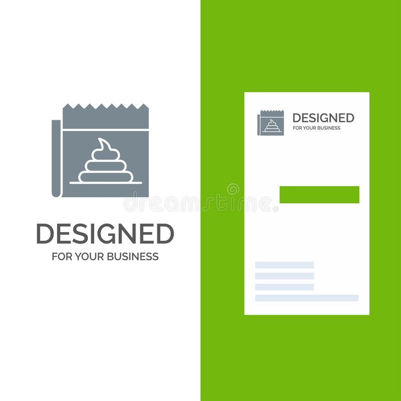 Pubblicità, falsificazione, mistificazione, giornalismo, notizie Grey Logo Design e modello del biglietto da visita royalty illustrazione gratis