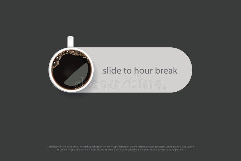 Pubblicità Flayers del manifesto del caffè illustrazione vettoriale