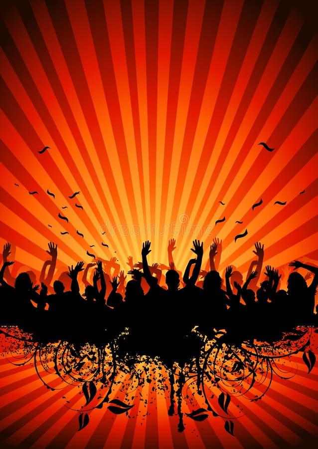 Pubblico di ballo royalty illustrazione gratis