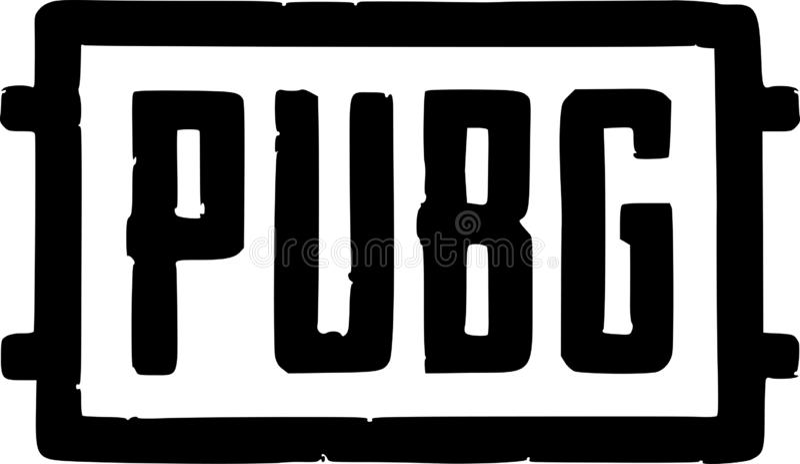 PUBG logo wektoru ikona royalty ilustracja