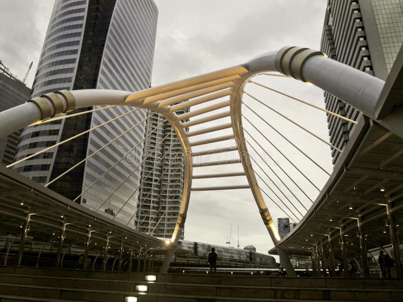 Download Pubic Skywalk With Modern Buildings Stock Image - Image: 25541613