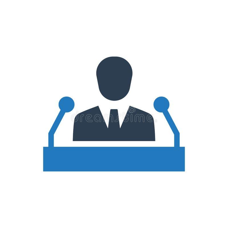 Public announcement icon. Simple illustration of a public announcement icon royalty free illustration