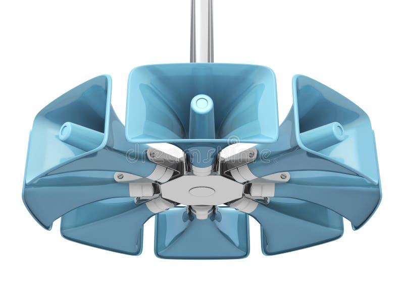 Public announcement loudspeakers royalty free illustration