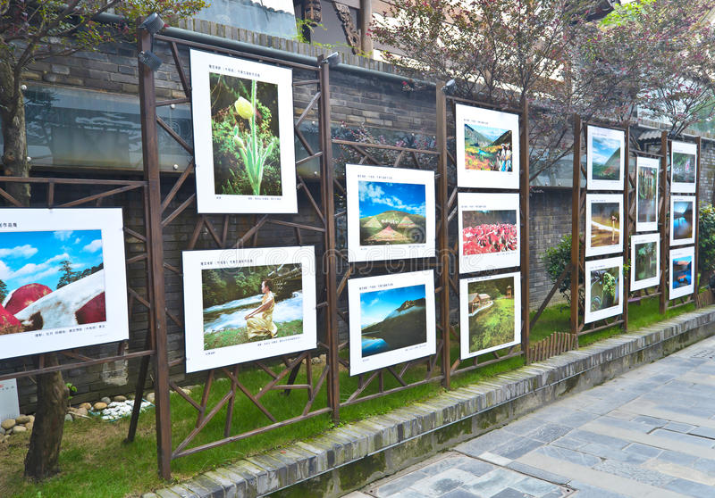 Public art exhibition. At chengdu,china.This exhibition is hold by many Freelance photographer. Photo is taken on 8 Aug 2011 stock image
