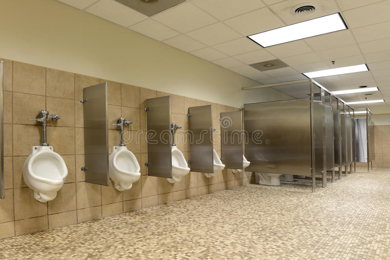 Public bathroom stock image
