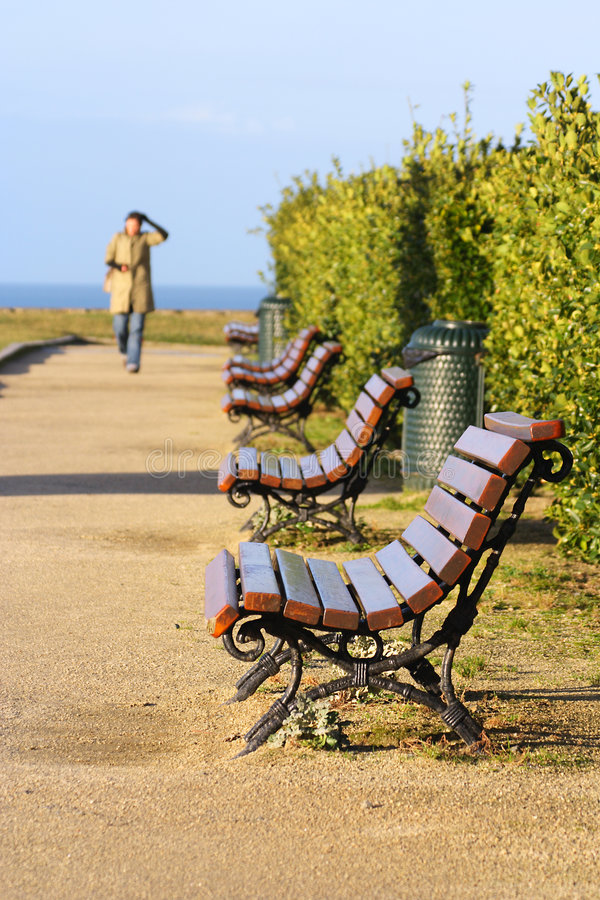 Public bench royalty free stock photography