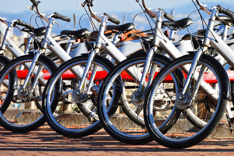 Public bicycle transportation system stock images