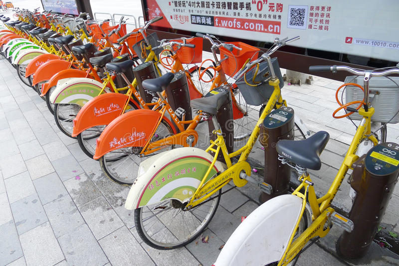 Public bicycles in Nanhai