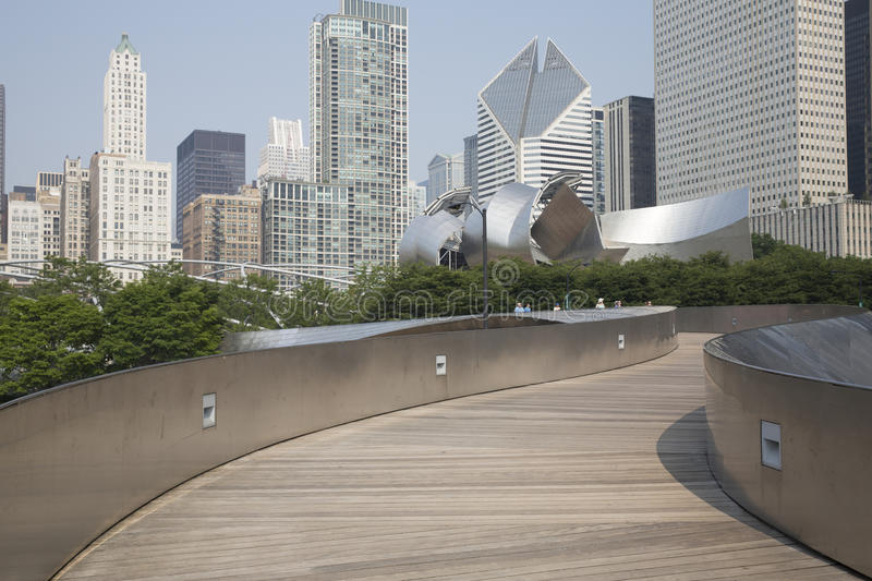Public BP walkway in Millenium park, Chicago, Il, USA stock photo