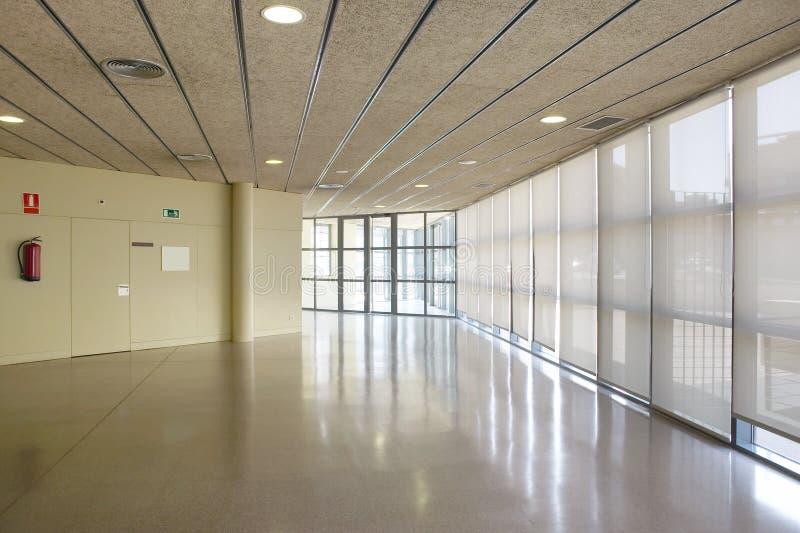 Public building corridor area. Hospital interior. Nobody. Horizontal. Public building corridor area. Hospital interior detail. Nobody. Horizontal stock photography