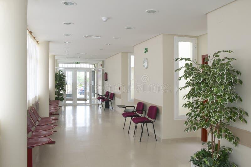 Public building waiting area. Health center indoor. Nobody. Horizontal stock photo