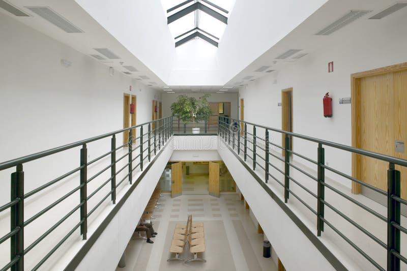 Public building waiting area. Health center indoor. Nobody. Horizontal stock photography