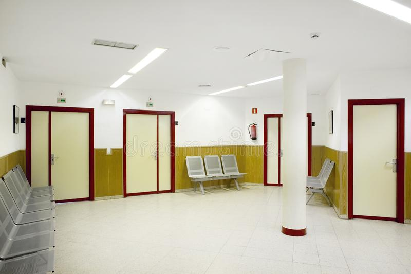 Public building waiting area. Health center indoor. Nobody. Horizontal royalty free stock photo