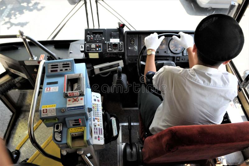 Public bus in Tokyo stock photos