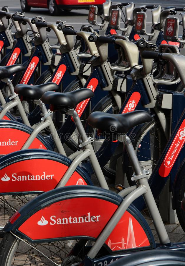 Public Cycle scheme London, UK royalty free stock photo