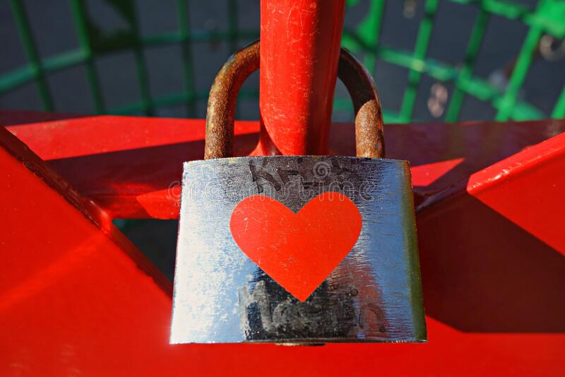 PUBLIC DOMAIN DEDICATION - Pixabay - digionbew 12. 11-07-16 Love padlock LOW RES DSC05433 royalty free stock photo