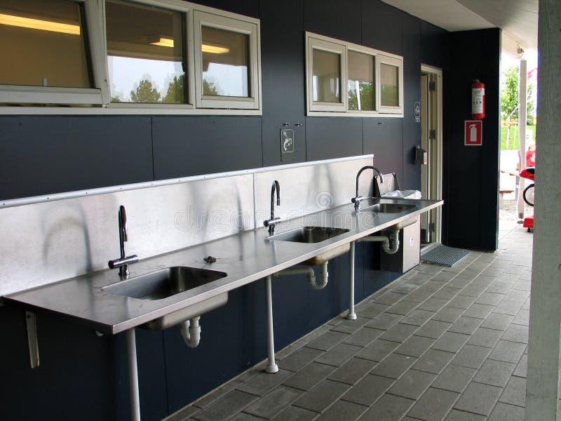 Public drinking washing facility stock image
