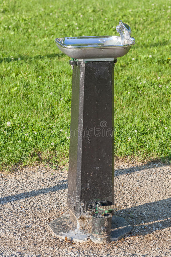 Public Drinking Water Tap In The Public Park Stock Photo